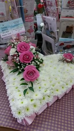 love heart funeral tribute