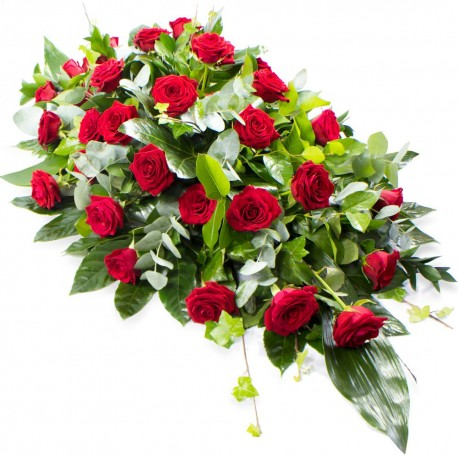 Coffin Spray (Red Roses)